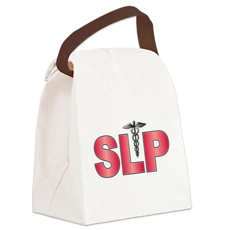 SLP Red Canvas Lunch Bag