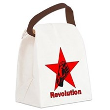 Commie Revolution Star Fist Canvas Lunch Bag