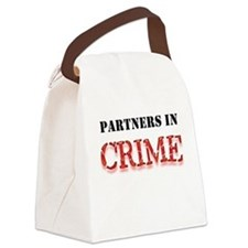 Partners in Crime Canvas Lunch Bag