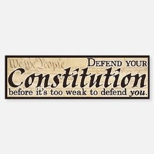 Defend your Constitution! Bumper Bumper Sticker