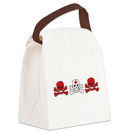Canada Skull Canvas Lunch Bag