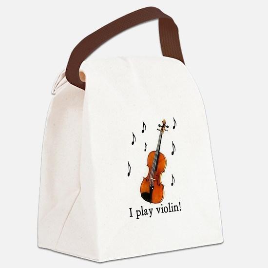 I play violin! Canvas Lunch Bag