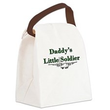 Daddy's Little Soldier Canvas Lunch Bag