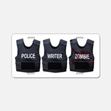 Police, writer, zombie Aluminum License Plate
