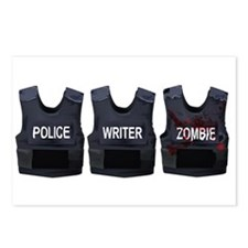 Police, writer, zombie Postcards (Package of 8)