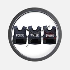 Police, writer, zombie Wall Clock