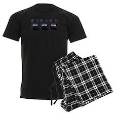 Police, writer, zombie Pajamas