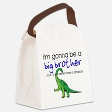 Gonna be big brother (dinosaur) Canvas Lunch Bag