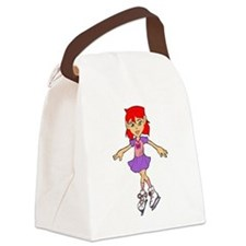 Ice Skating Girl - Canvas Lunch Bag