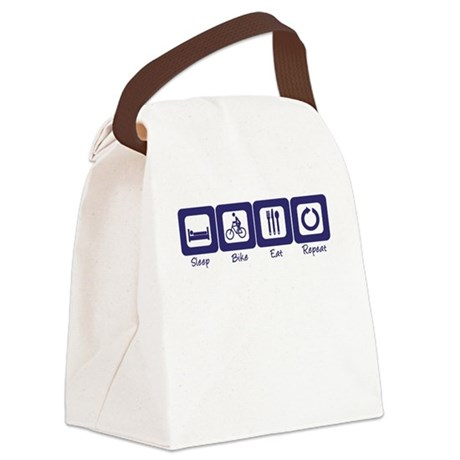 Sleep- Bike- Eat- Repeat Canvas Lunch Bag
