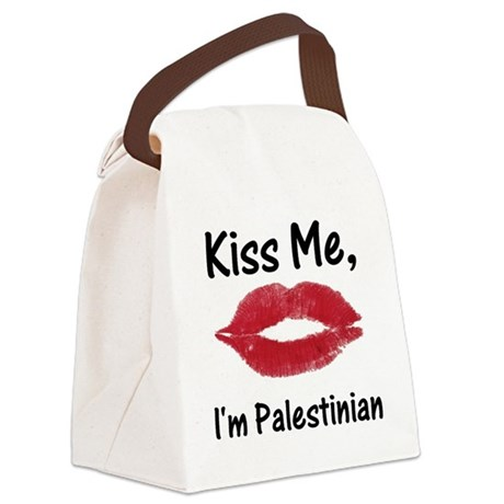 Kiss me, I'm Palestinian Canvas Lunch Bag