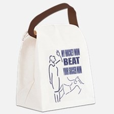 Hockey vs. Soccer Canvas Lunch Bag