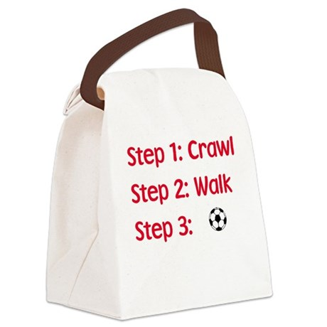 Step 3: Soccer Canvas Lunch Bag