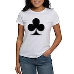 Clubs Playing Card Symbol Women's T-Shirt