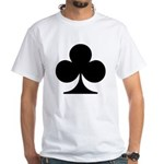 Clubs Playing Card Symbol White T-Shirt