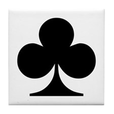Clubs Playing Card Symbol Tile Coaster
