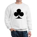 Clubs Playing Card Symbol Sweatshirt