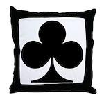 Clubs Playing Card Symbol Throw Pillow