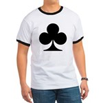 Clubs Playing Card Symbol Ringer T