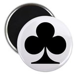 Clubs Playing Card Symbol Magnet