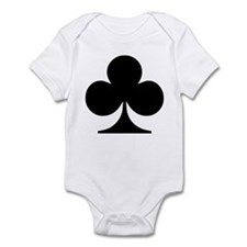 Clubs Playing Card Symbol Infant Creeper