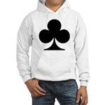 Clubs Playing Card Symbol Hooded Sweatshirt