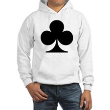 Clubs Playing Card Symbol Hoodie