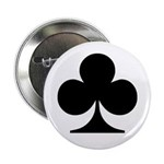 Clubs Playing Card Symbol Button