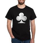 Clubs Playing Card Symbol Black T-Shirt