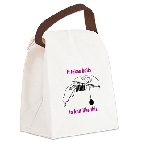 Knit - It Takes Balls Canvas Lunch Bag