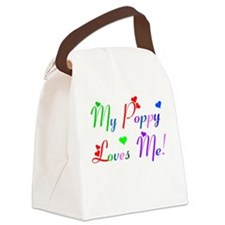 My Poppy Loves Me (des. #2) Canvas Lunch Bag
