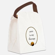 Yarn Is My Therapy Canvas Lunch Bag
