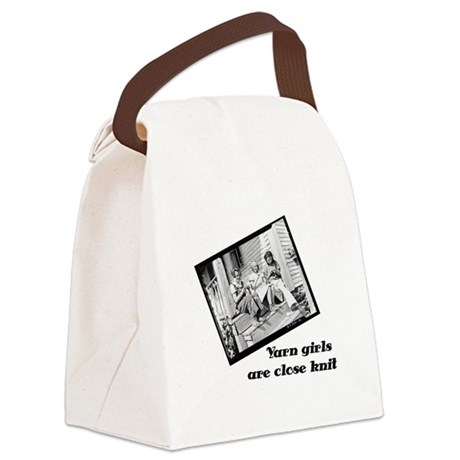 Yarn Girls are Close Knit Canvas Lunch Bag