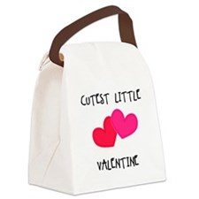 Cutest Little Valentine Canvas Lunch Bag
