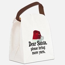 Santa Bring More Yarn Canvas Lunch Bag