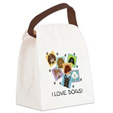 I Love Dogs Canvas Lunch Bag