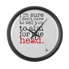 Aim for the head Large Wall Clock