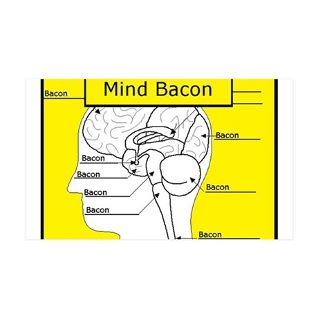 Mind Bacon 35x21 Wall Decal