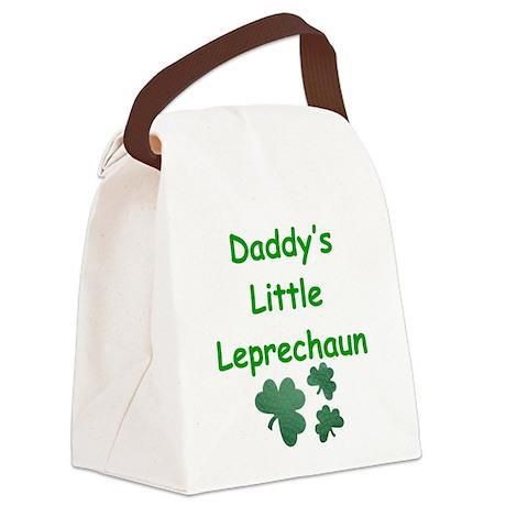 Daddy's Little Leprechaun Canvas Lunch Bag