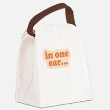 """In One Ear"" Twins Canvas Lunch Bag"