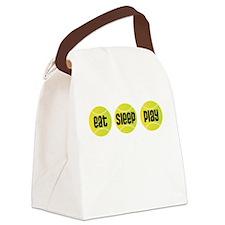 Eat Sleep Play Tennis Canvas Lunch Bag