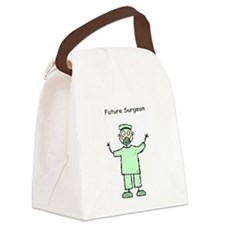 Future Surgeon Green Scrubs Canvas Lunch Bag