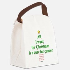 All I Want For Christmas Canvas Lunch Bag