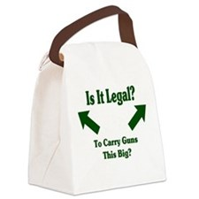Is it legal to carry guns thi Canvas Lunch Bag
