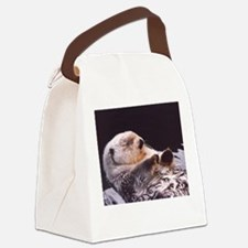 Cool Sea otter Canvas Lunch Bag
