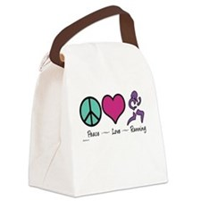 Peace- Love- Running Canvas Lunch Bag