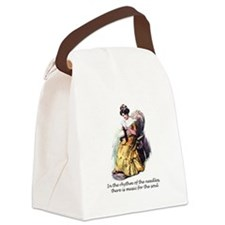 Knitting - Music for the Soul Canvas Lunch Bag
