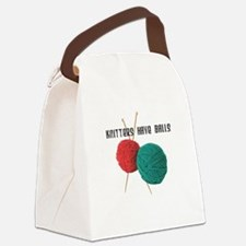 Knitters have Balls Canvas Lunch Bag