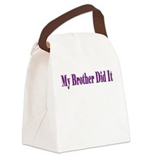 My Brother Did It (purple) Canvas Lunch Bag
