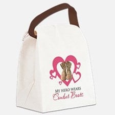 My Hero Wears Combat Boots Canvas Lunch Bag